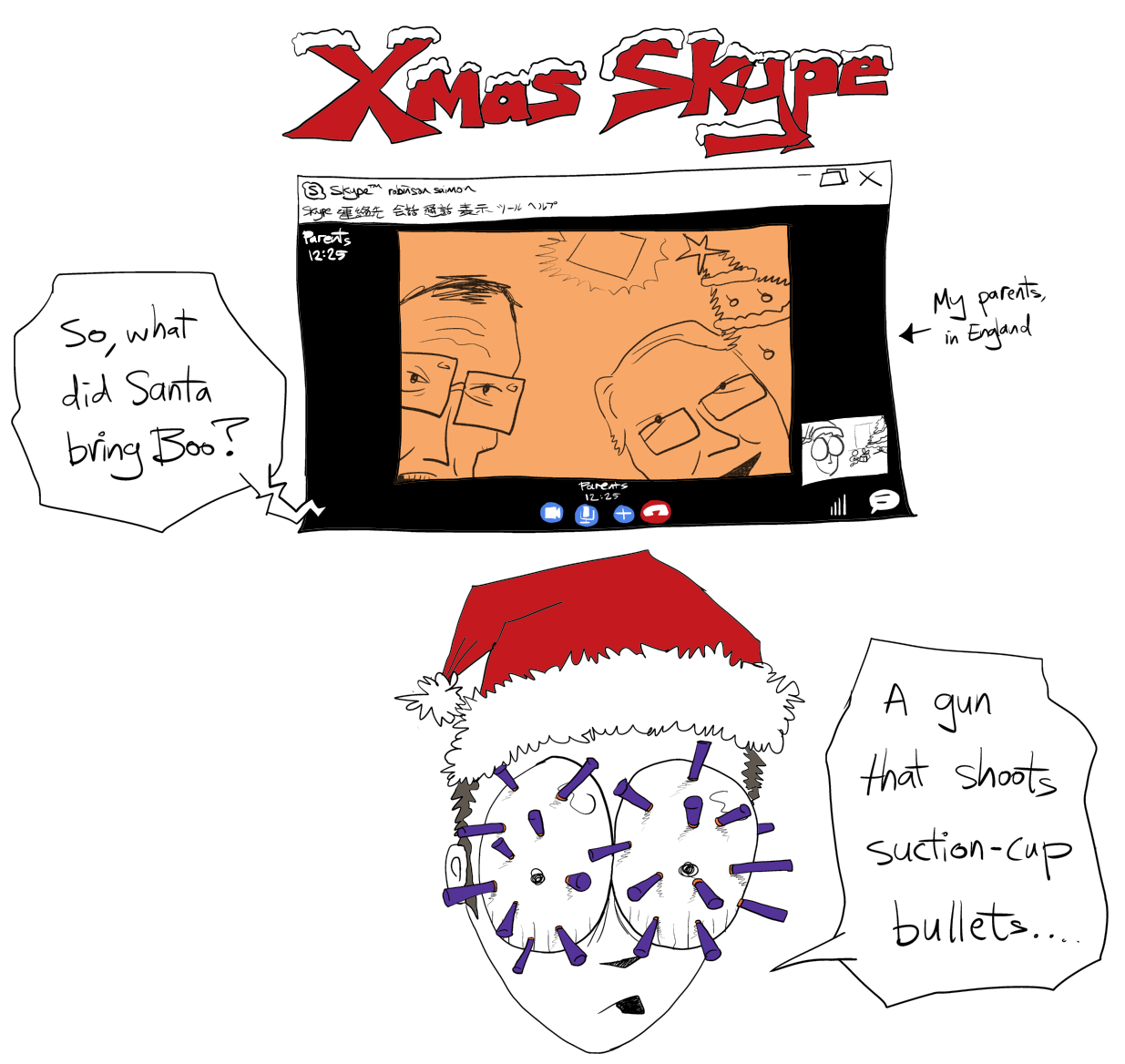 xmas skype E